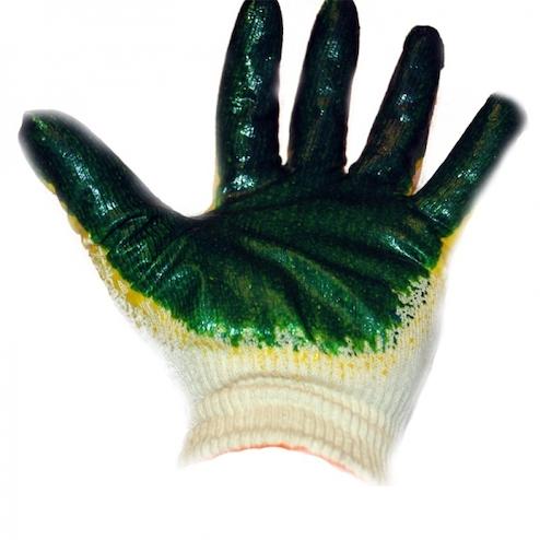 Перчатки двойной латексный облив