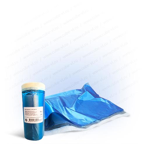 Пленка защитная с бумажной крепированой лентой 0.9м*20м